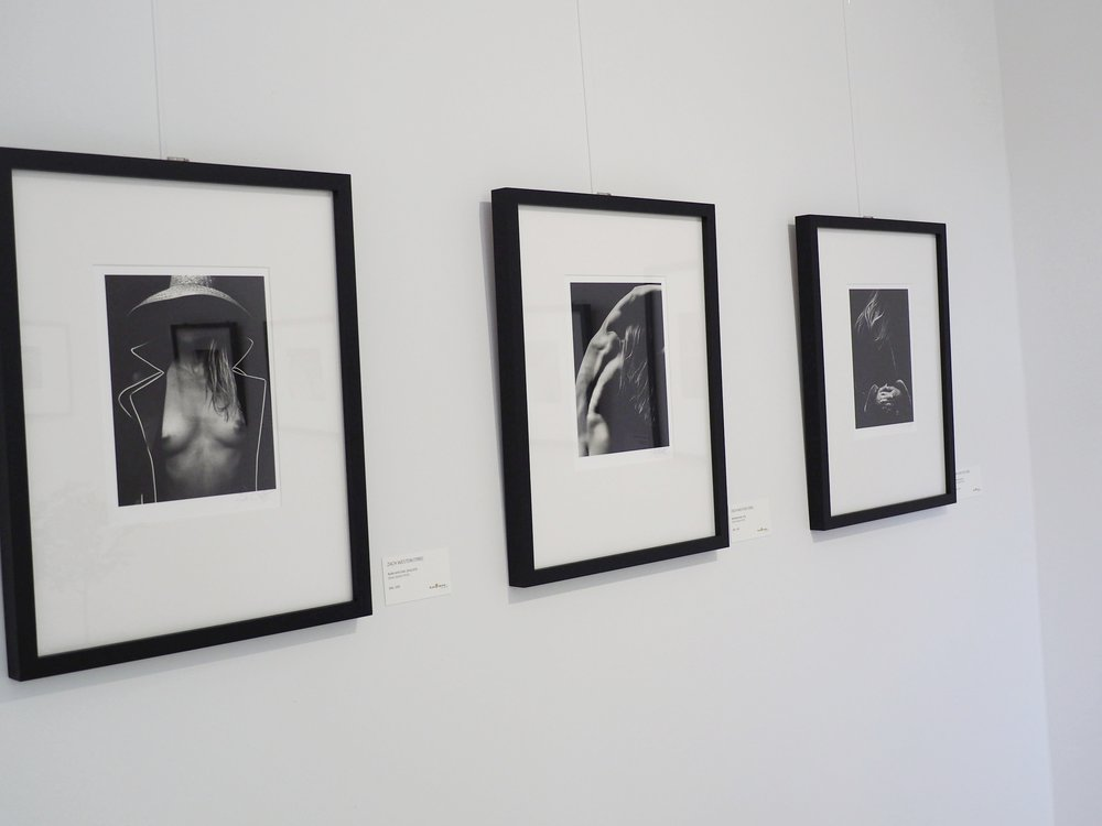 Photographs by Zach Weston on display at the Four Generations of Weston exhibition in Germany, 2017.