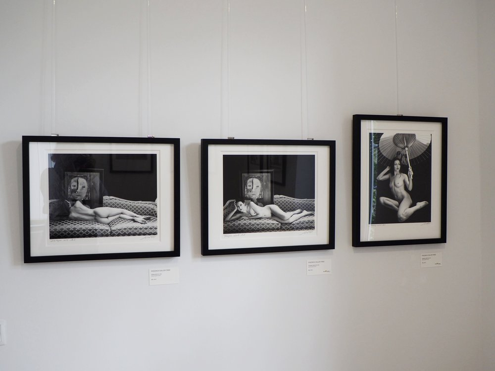 Photographs by Friedrich Saller on display at the Four Generations of Weston exhibition in Germany, 2017.