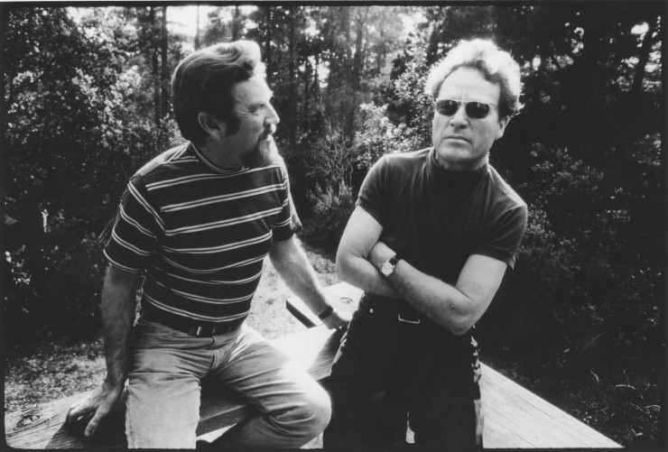 Cole Weston (left) and Brett Weston by Bernard Plossu
