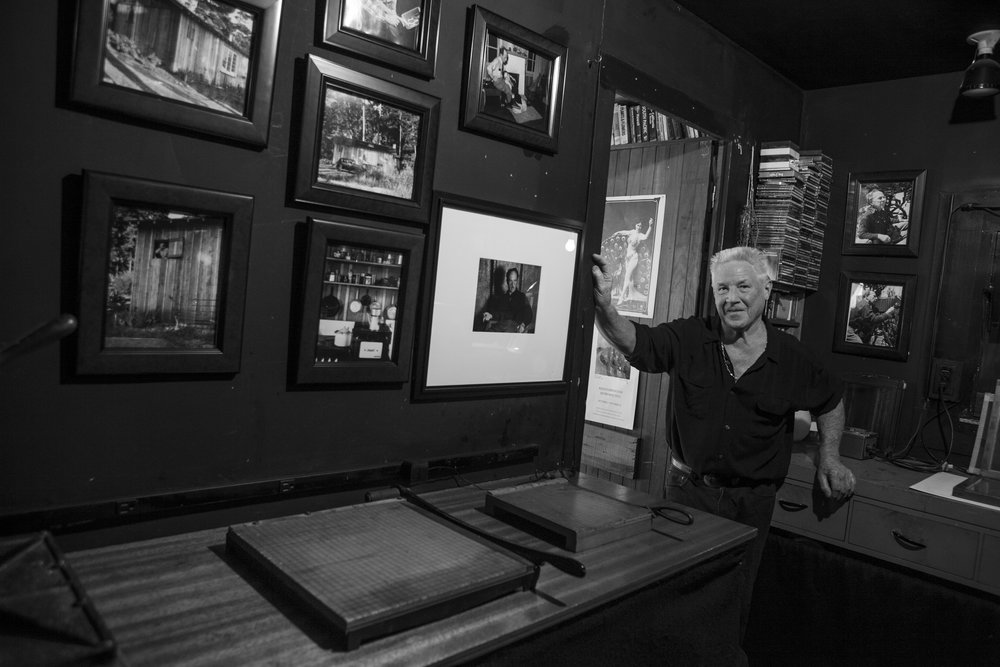 Kim Weston in Edward Weston's darkroom at Wildcat.   Photo by Michelle Magdalena Maddox.