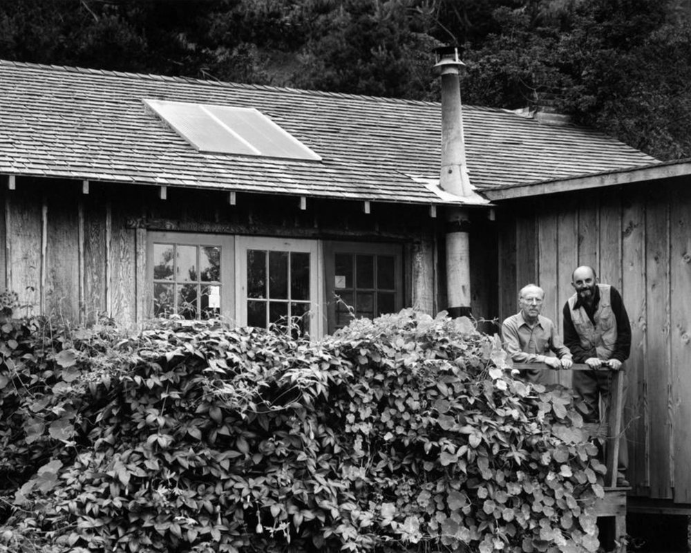Edward and Ansel at Edward's home on Wildcat Hill ©Pirkle Jones - Carmel Highlands