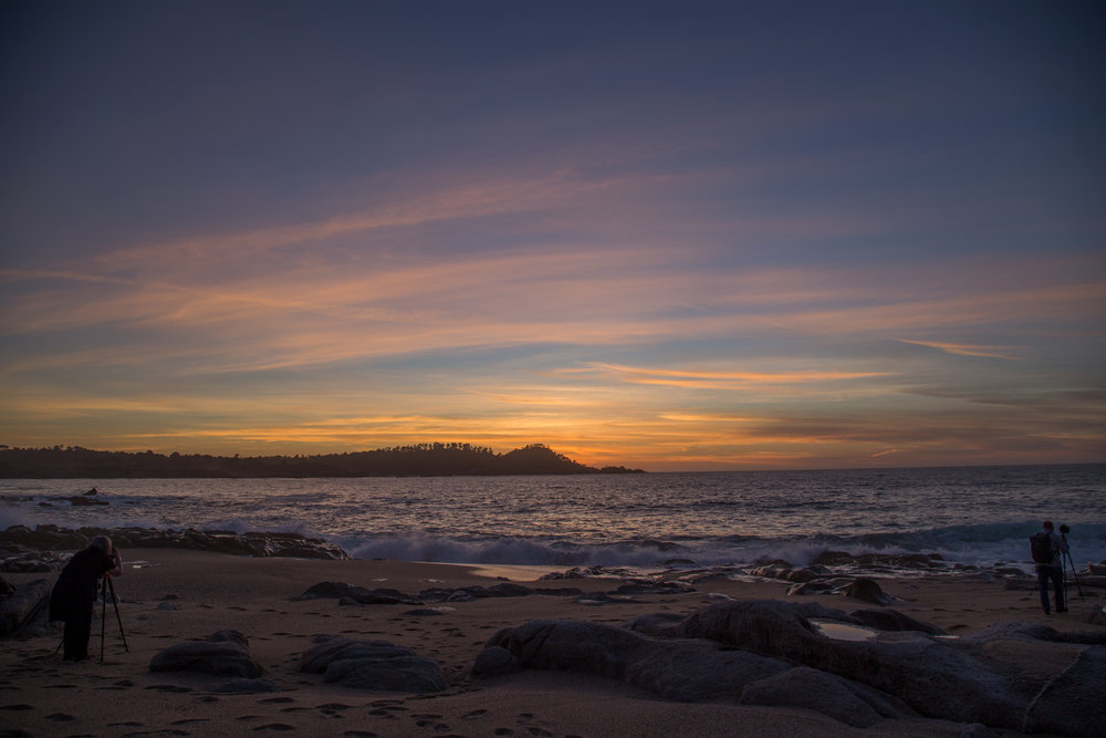 Sunset during a one-on-one landscape photography workshop with Kim Weston in Carmel, CA!  Copyright © Zach Weston - All rights reserved