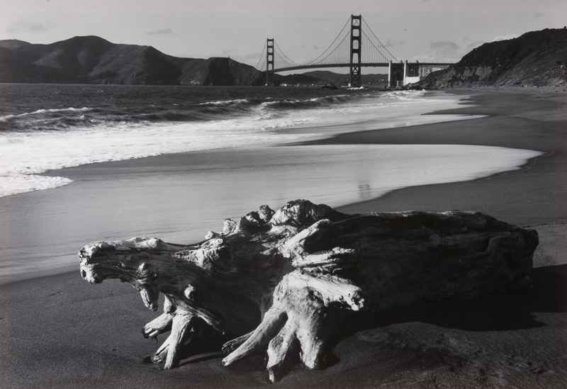 ©Pirkle Jones - Log and Golden Gate Bridge 1952