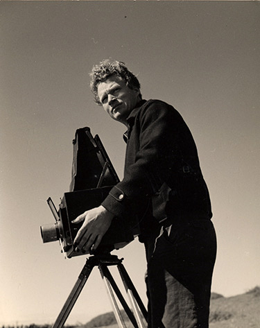 Brett Weston using the Graflex ©The Brett Weston Archive