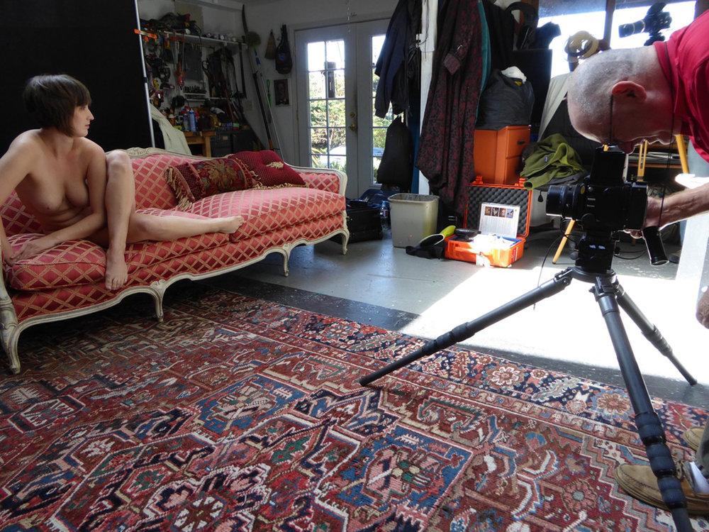 John shooting in the studio at Wildcat. Photo: Martin Reekie