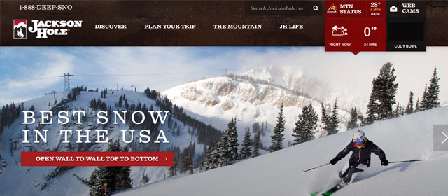 Jackson Hole Mountain Resort Home page