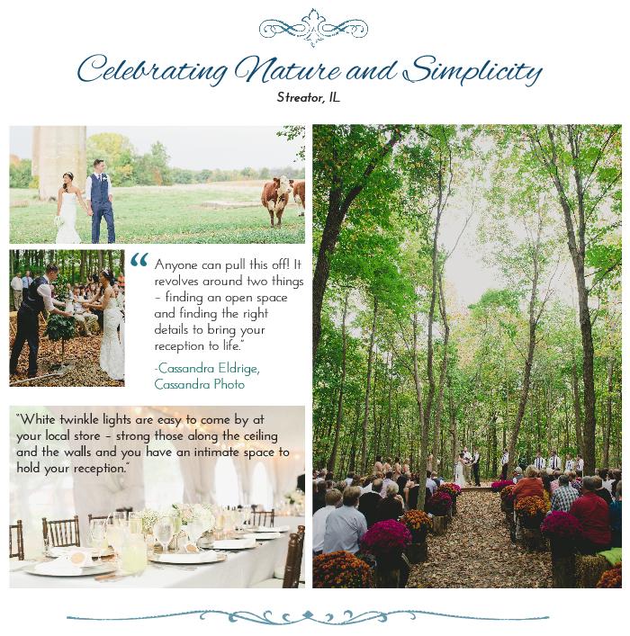 Outdoor wedding venue in the woods