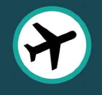Airplane icon.