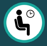 Person waiting icon.