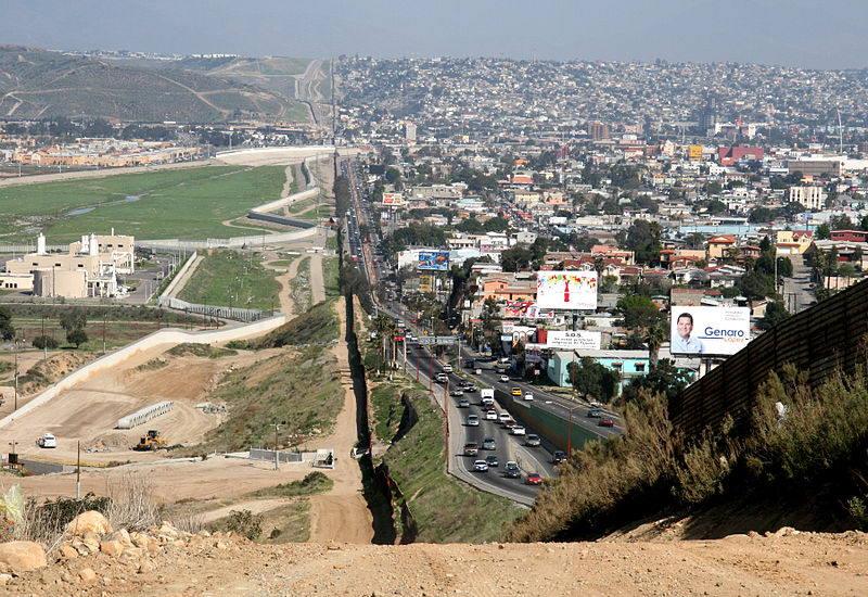 Border at Tijuana (Mexico) and San Diego (United States)