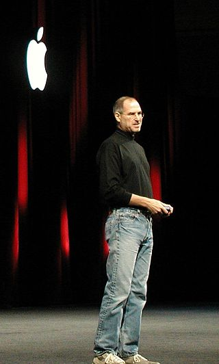 Steve Jobs at an Apple event