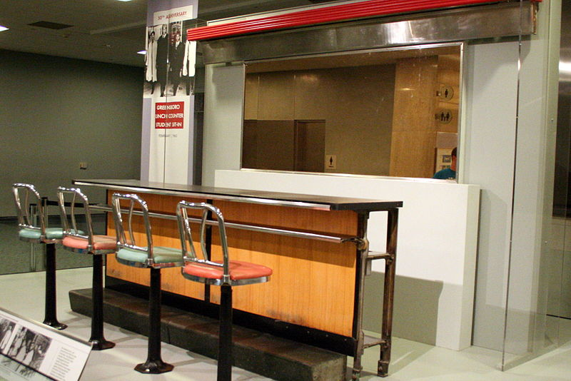 Counter at Woolworth's store in Greensboro, NC. This was the site of the most famous sit-ins of the Civil Rights movement.