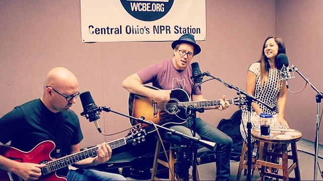 Performing for #NPR #radio #music #singer #musician #asseenincolumbus @wcbe905fm