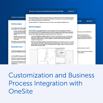 Automation: Content WorkFlow with OneSite Datasheet