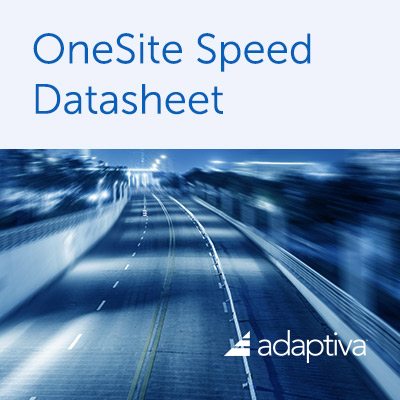 OneSite Speed Datasheet