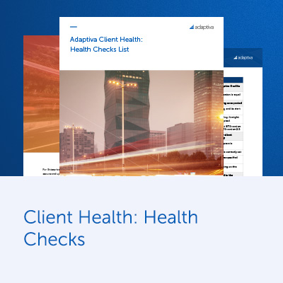 Client Health: Health Checks