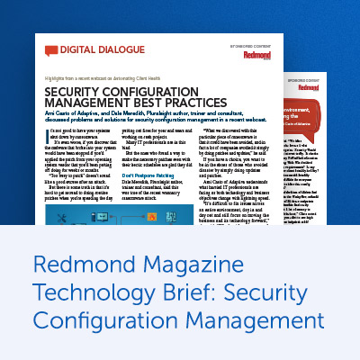 Redmond Magazine Technology Brief: Security Configuration Management