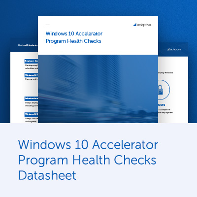 Windows 10 Accelerator Program Health Checks Datasheet