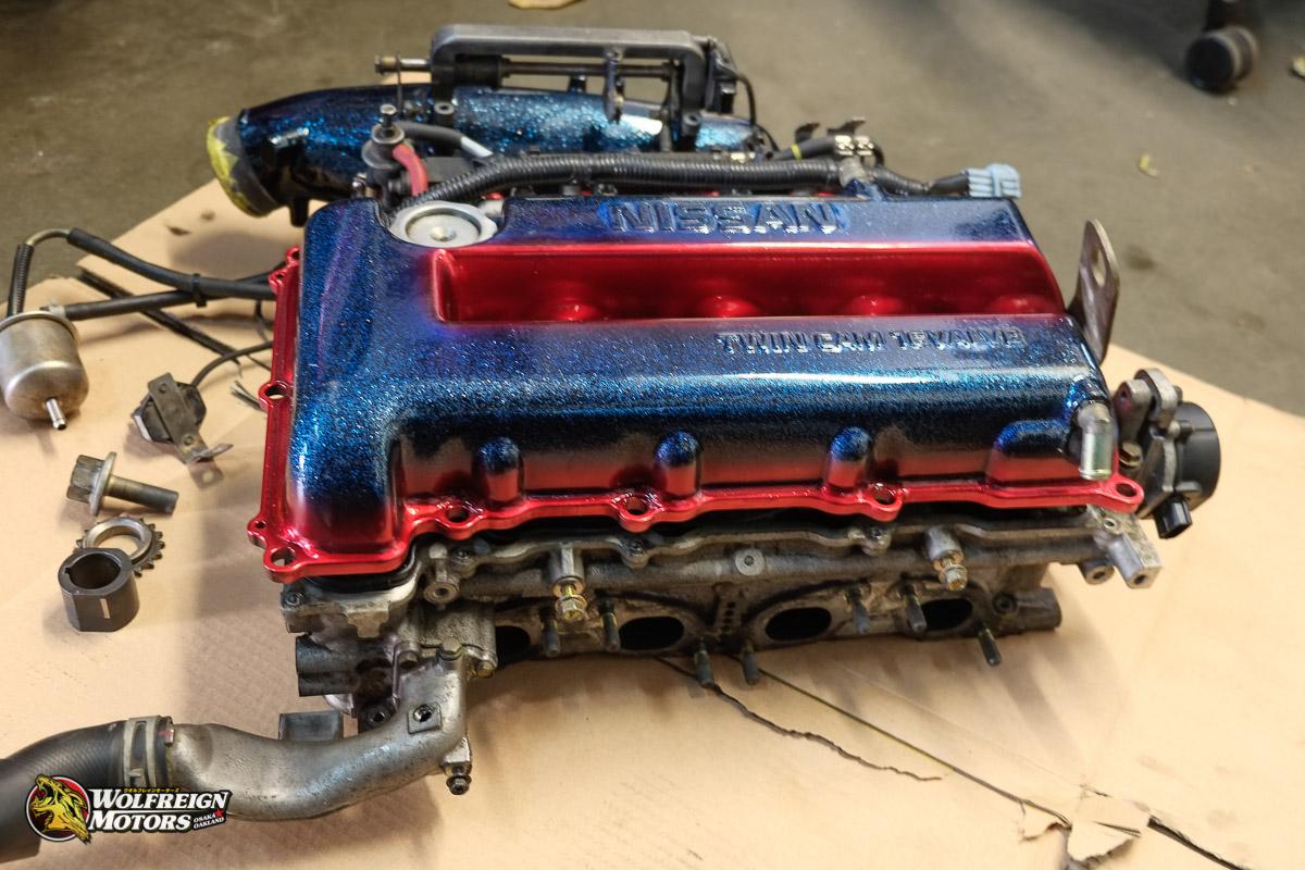 Wolfreign Motors-SR20VE P11 VVL Head W/ RWD Relocation Kit + Custom ITBs