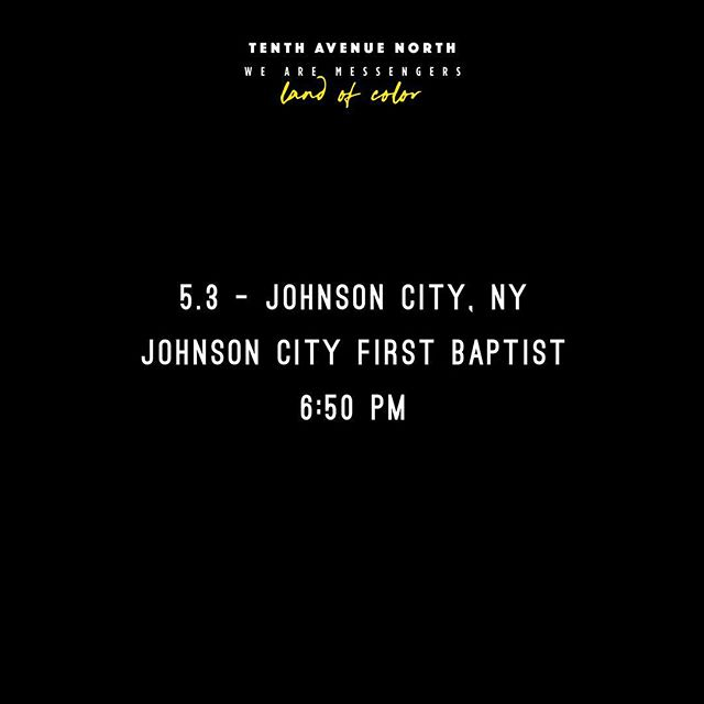 Excited to be kicking things off tonight for @wearemessengersmusic and @tenthavenorth. Come stop by the merch booth after the show. Gary and I would love to meet you! #OUTour #tenthavenuenorth #wearemessengers #landofcolor #concert #tour #music #newyork #johnsoncityny #livemusic