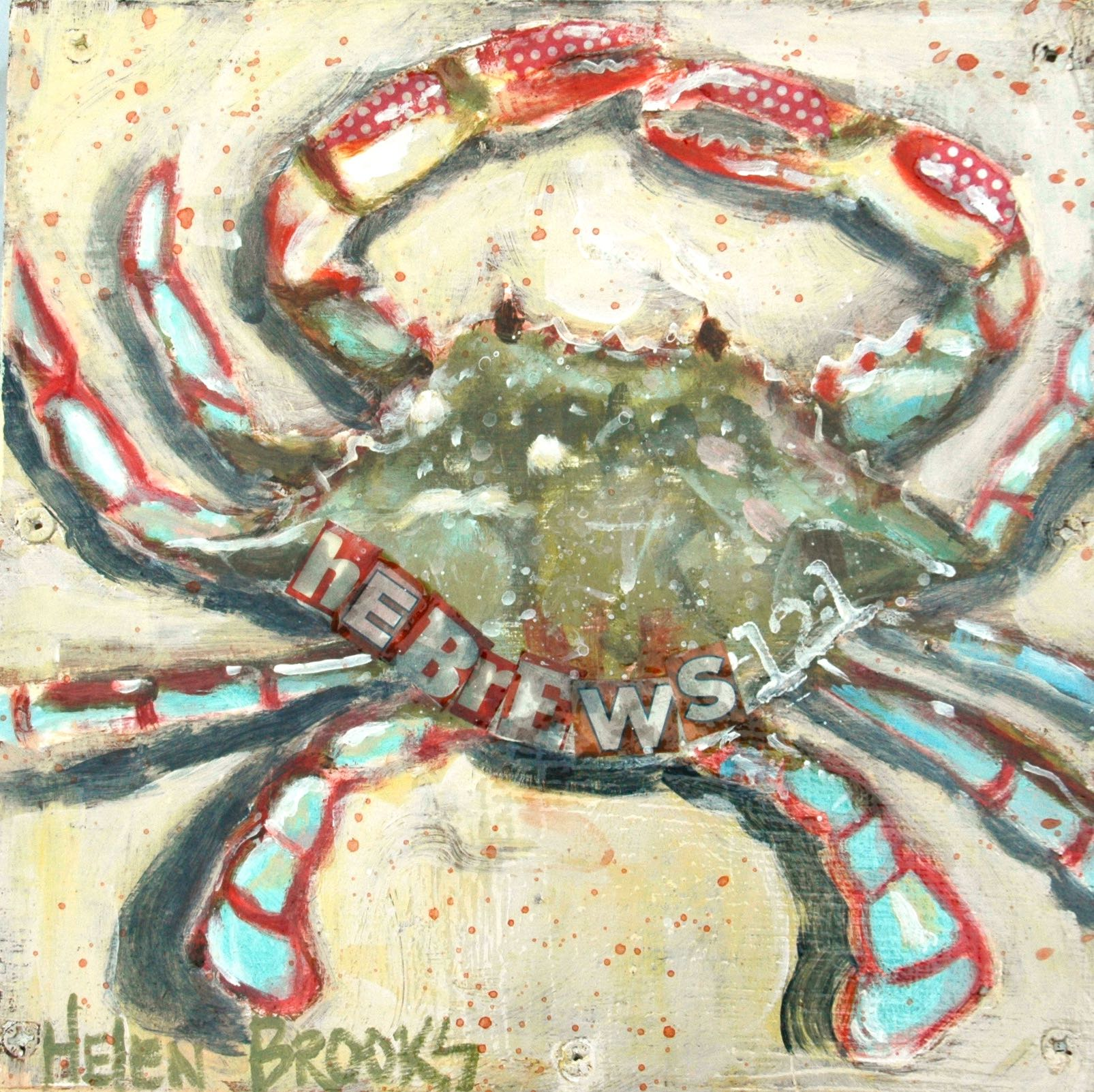 molting-crab-sanctification-hebrews-beach+art-christian+art