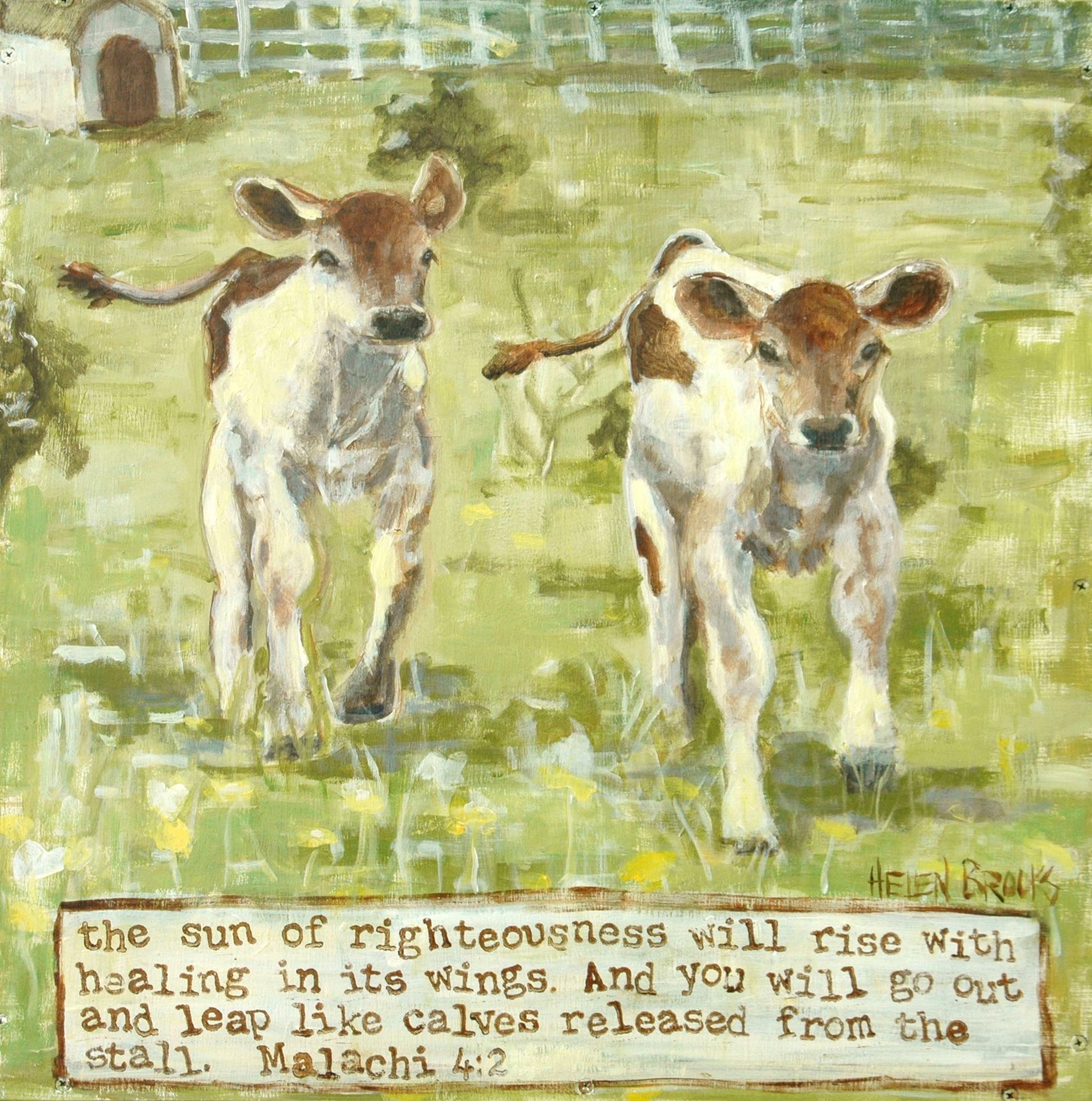 healing-calves-pasture-painting-mixed+media-chirstian+art