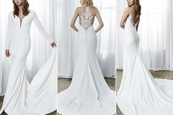 3fdbf03d3e Elegant Crepe Wedding Dresses for the Sexy Bride — Kelly Faetanini