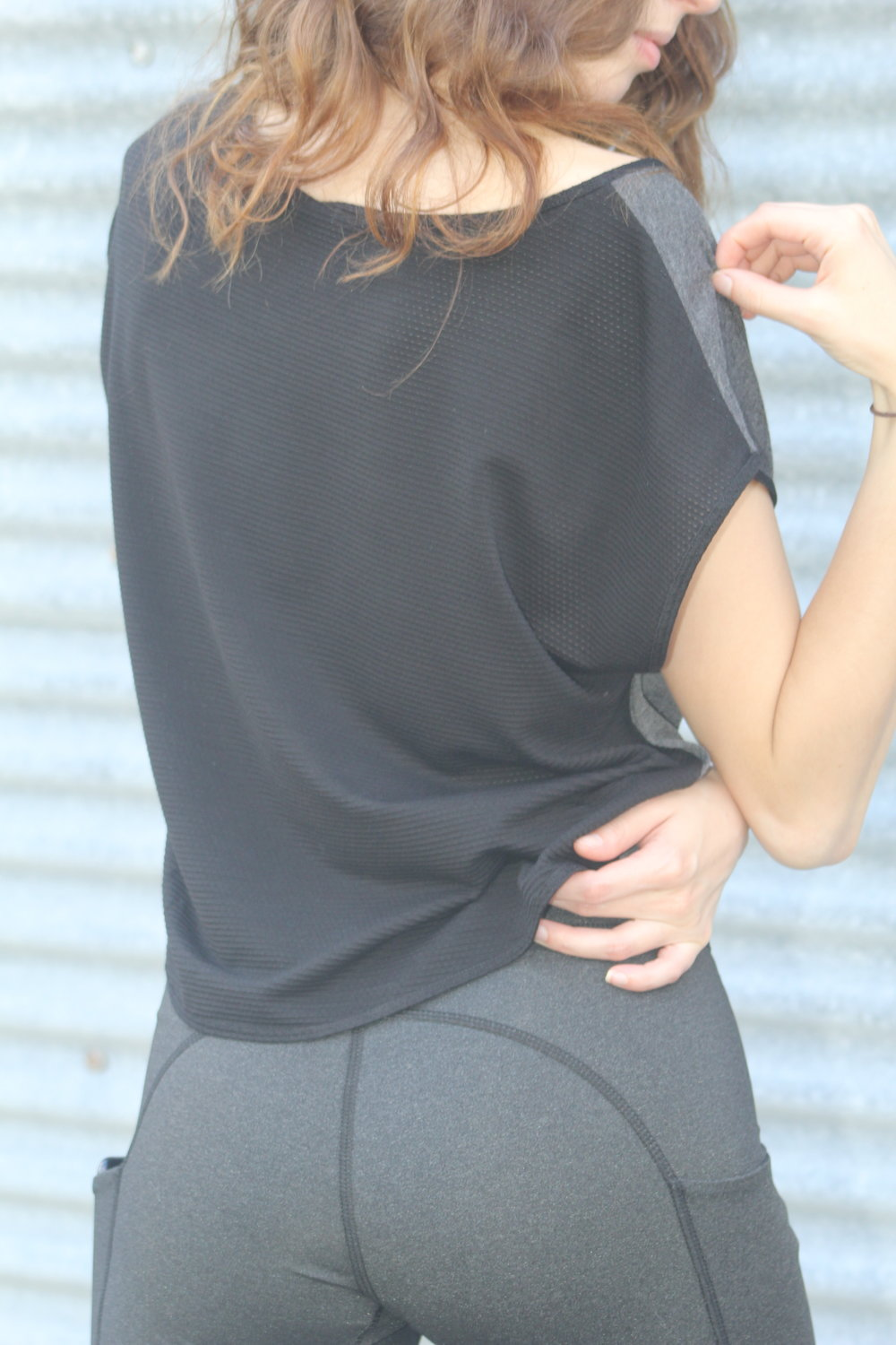 Back body is crafted in breathable, temperature regulating tencel/alpaca mesh