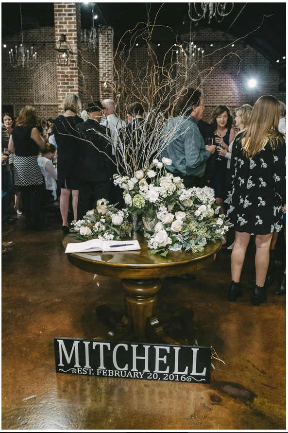 Entry way table with guest book