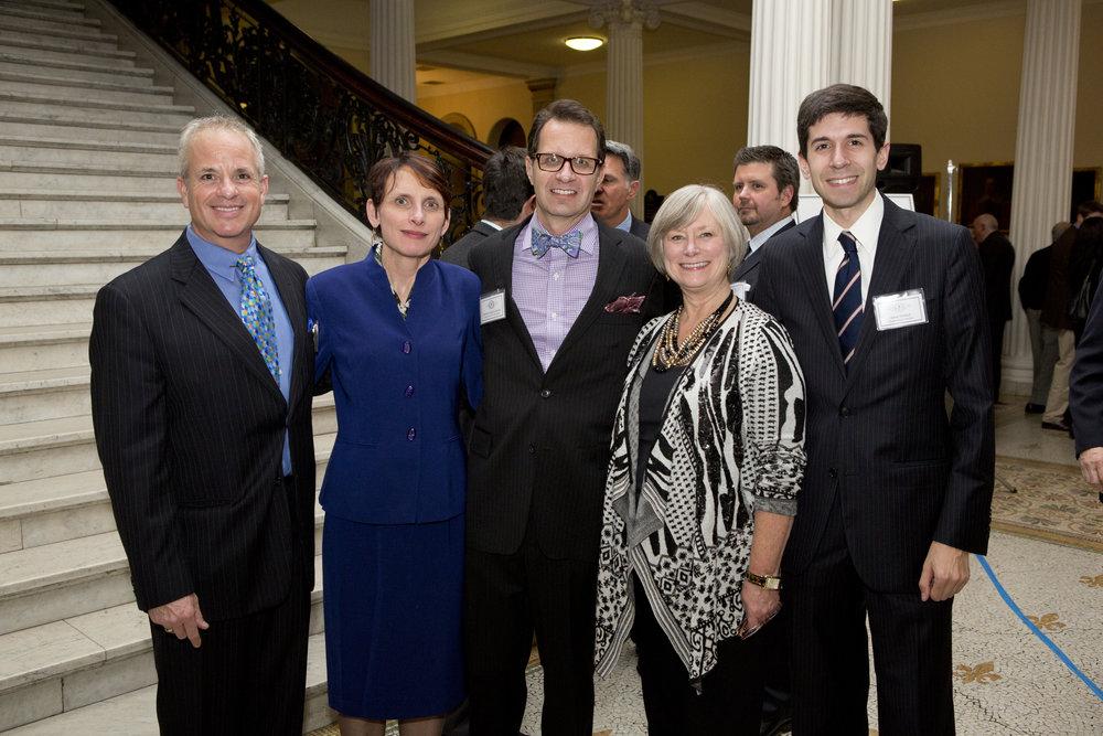 Chapter President John Margolis, Karen Muncaster, Chapter Vice President Sheldon Kostelecky, Jane Toland, Board member Aaron Helfand