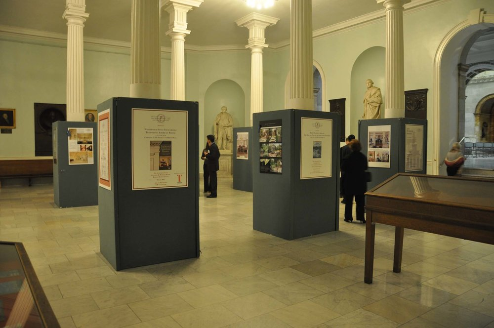 Exhibit of the Bulfinch Awards winners in the historic Charles Bulfinch-designed Massachusetts State House's Doric Hall