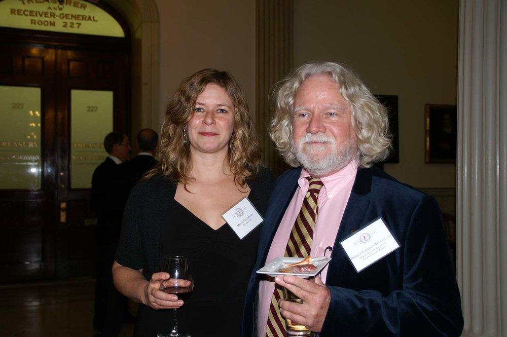 Megan Goltermann, Board member Patrick Hickox