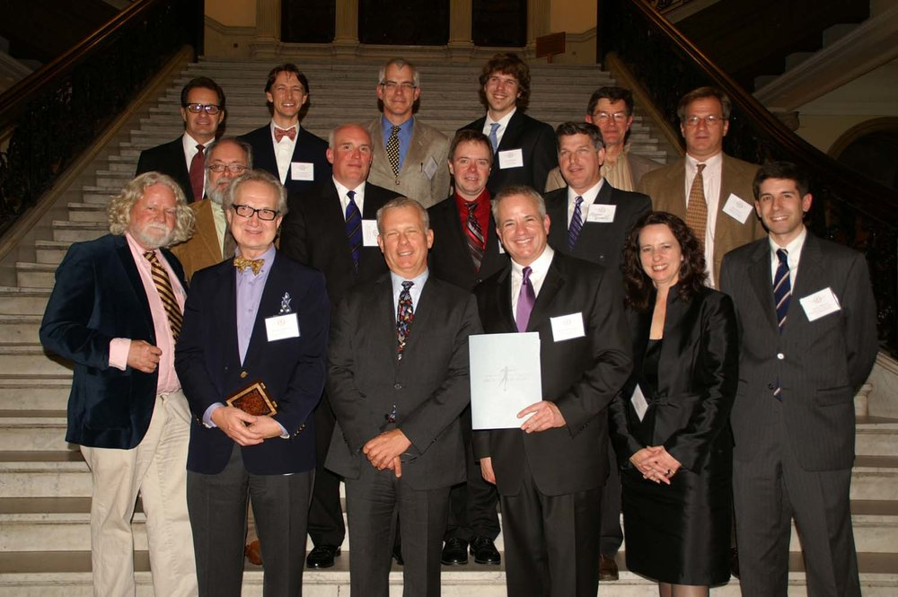 New England Chapter board members with National ICAA President Paul Gunther, front row, third from left