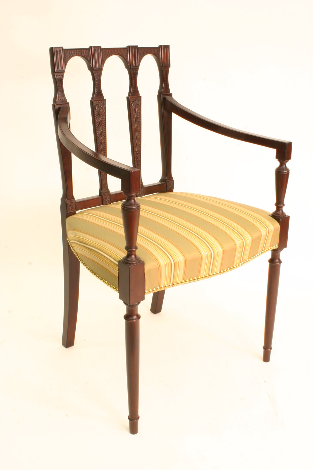 "Artisanship ""Reproduction Sheraton Arm Chairs"" Philip C. Lowe"