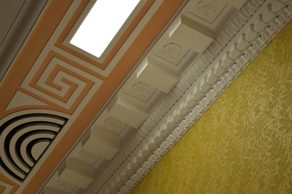 "Project Name, ""Ornamental Plaster, Edward M. Kennedy Institute,"" by Hyde Park Mouldings - Craftsman/Artisanship"