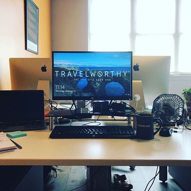Loving our new dedicated desk @SecondShiftChi - We're planning trips so hard and loving it! #travelworthy #letthetriptakeyou #wearesecondshift #coworking #travel #travelplanning