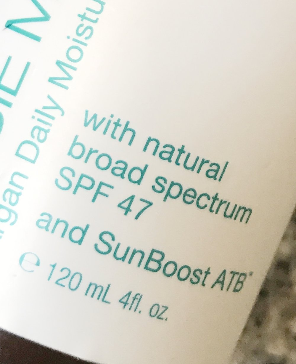 I like Josie Maran's brand of sunscreen, which clearly states on the bottle that it provides broad spectrum coverage.