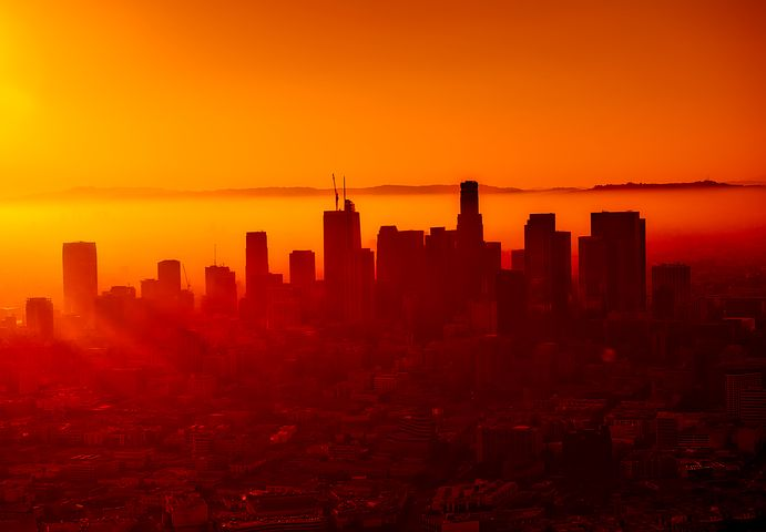 Los Angeles smog makes for beautiful sunsets