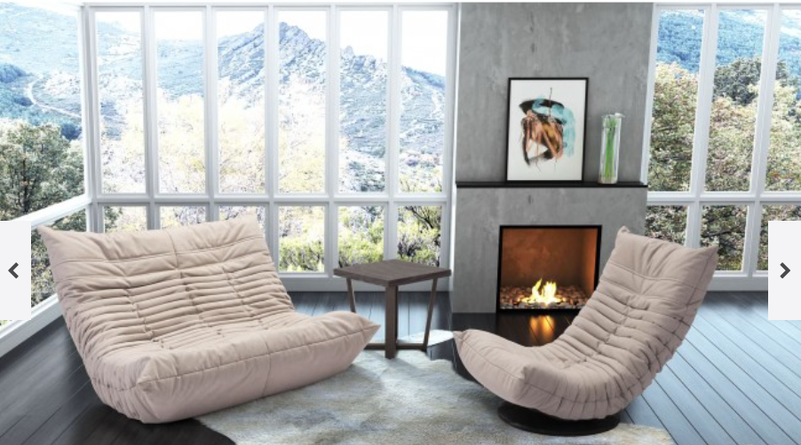 Down Low Swivel Chair - Beige & Studio P Interiors