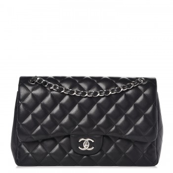 Chanel Lambskin Quilted Jumbo Double Flap