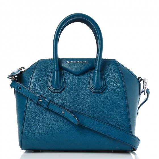 Givenchy Sugar Goatskin Mini Antigona Electric Blue