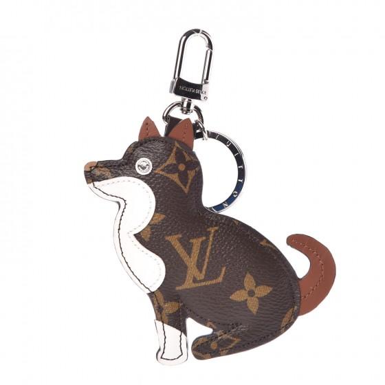 LOUIS VUITTON Monogram Dog Bag Charm Key Holder