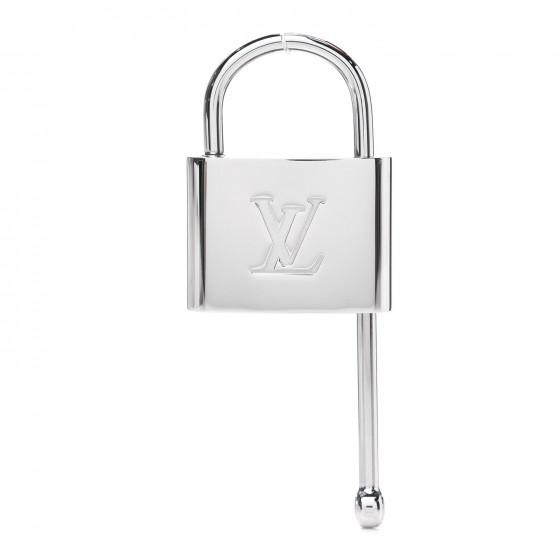 LOUIS VUITTON Lock Purse Hook Silver