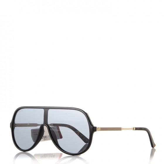 GUCCI Shield Sunglasses GG0199S Black