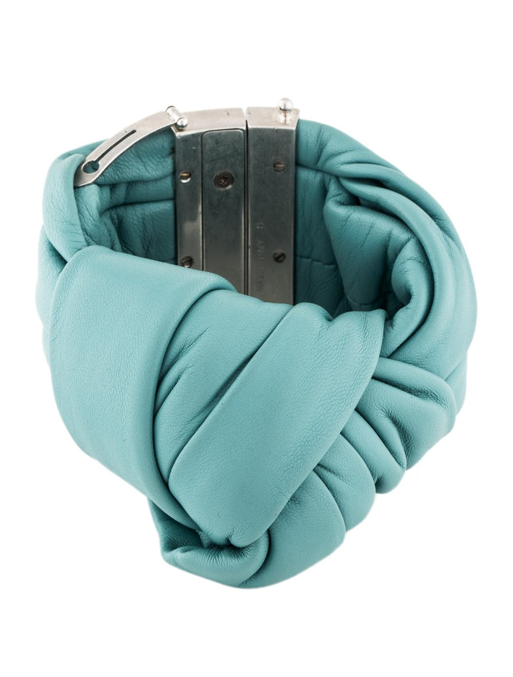 Copy of Celine Summer 2013 Runway Leather Knot Bracelet Blue