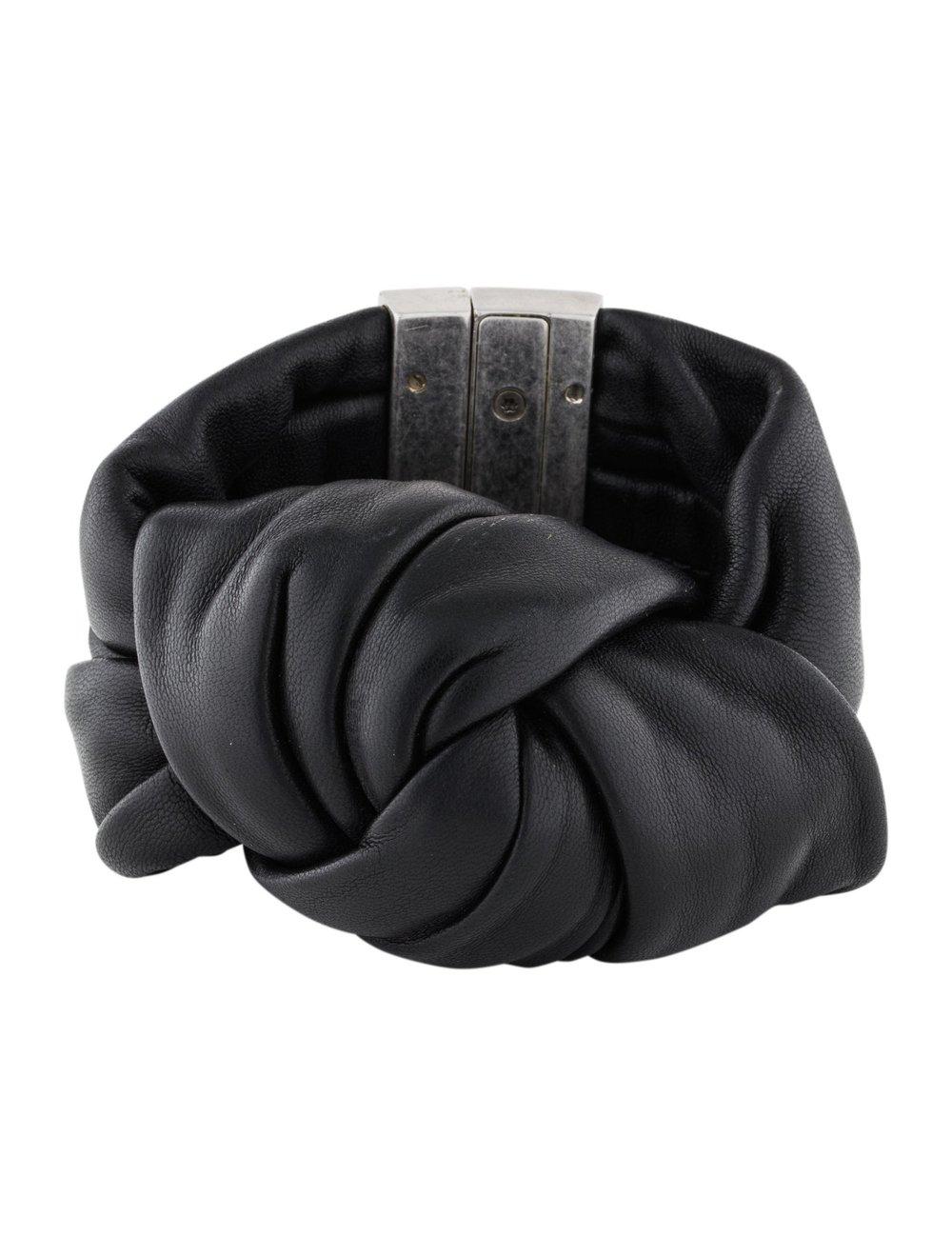Celine Summer 2013 Runway Leather Know Bracelet Black