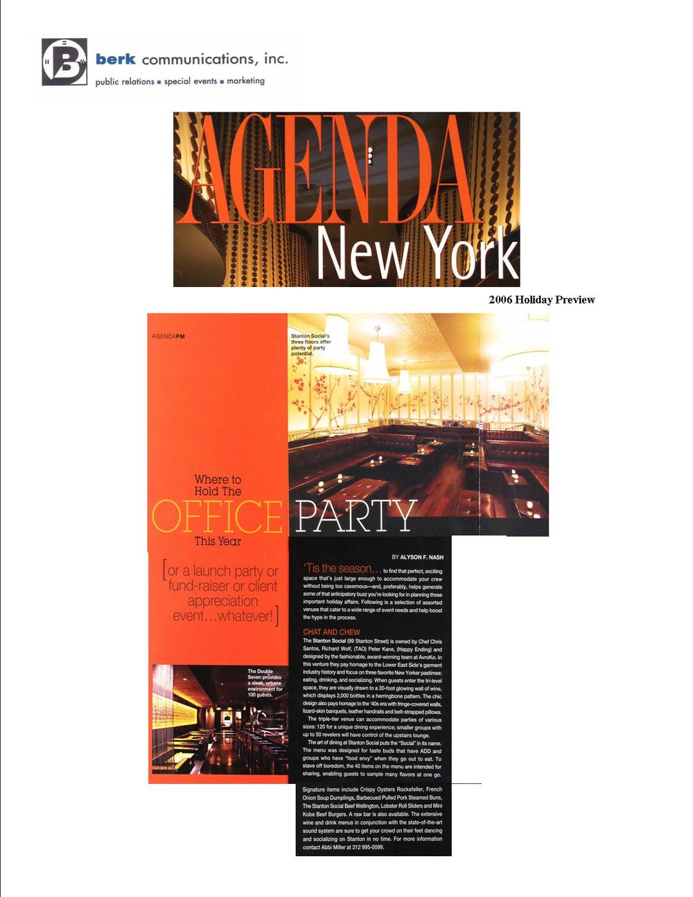 Agenda New York