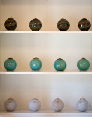 Richard Pullen Ceramic Oil Lamps