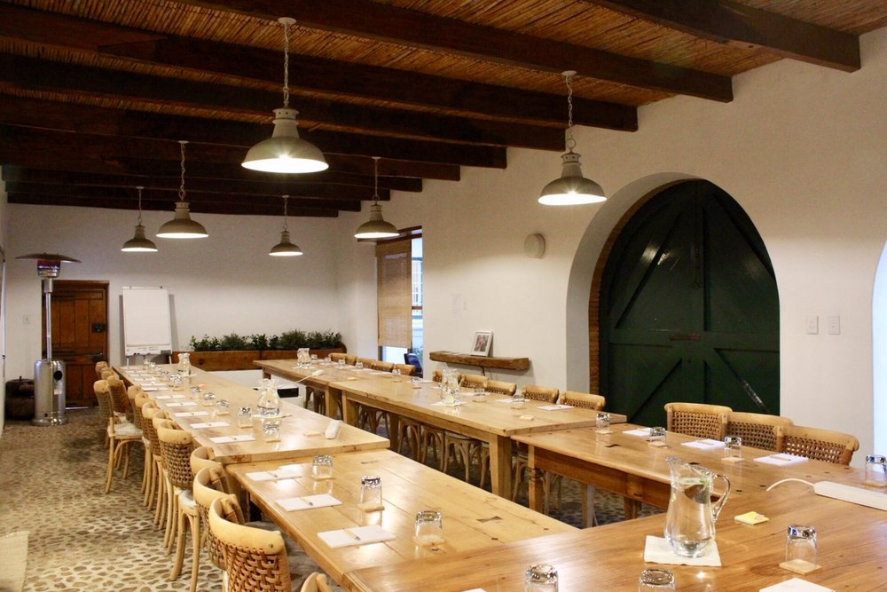 The Barn: conferencing setup