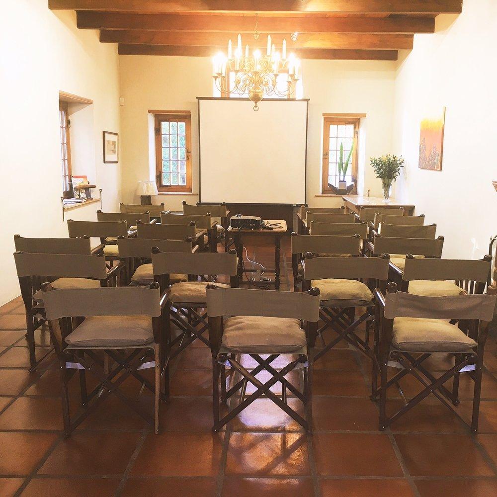 The Entrance Lounge: presentation setup